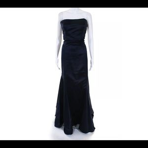 VERA WANG STRAPLESS DRESS NAVY BLUE SIZE 8